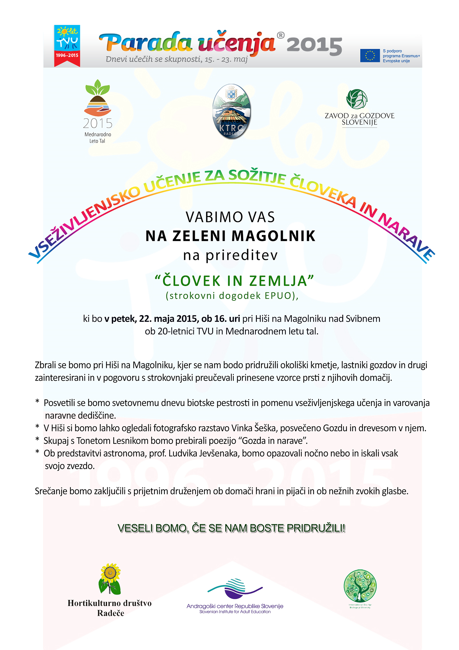 Name of event and link to programme (Slovenian): Man and Earth –  Celebrating World Soil Day ...